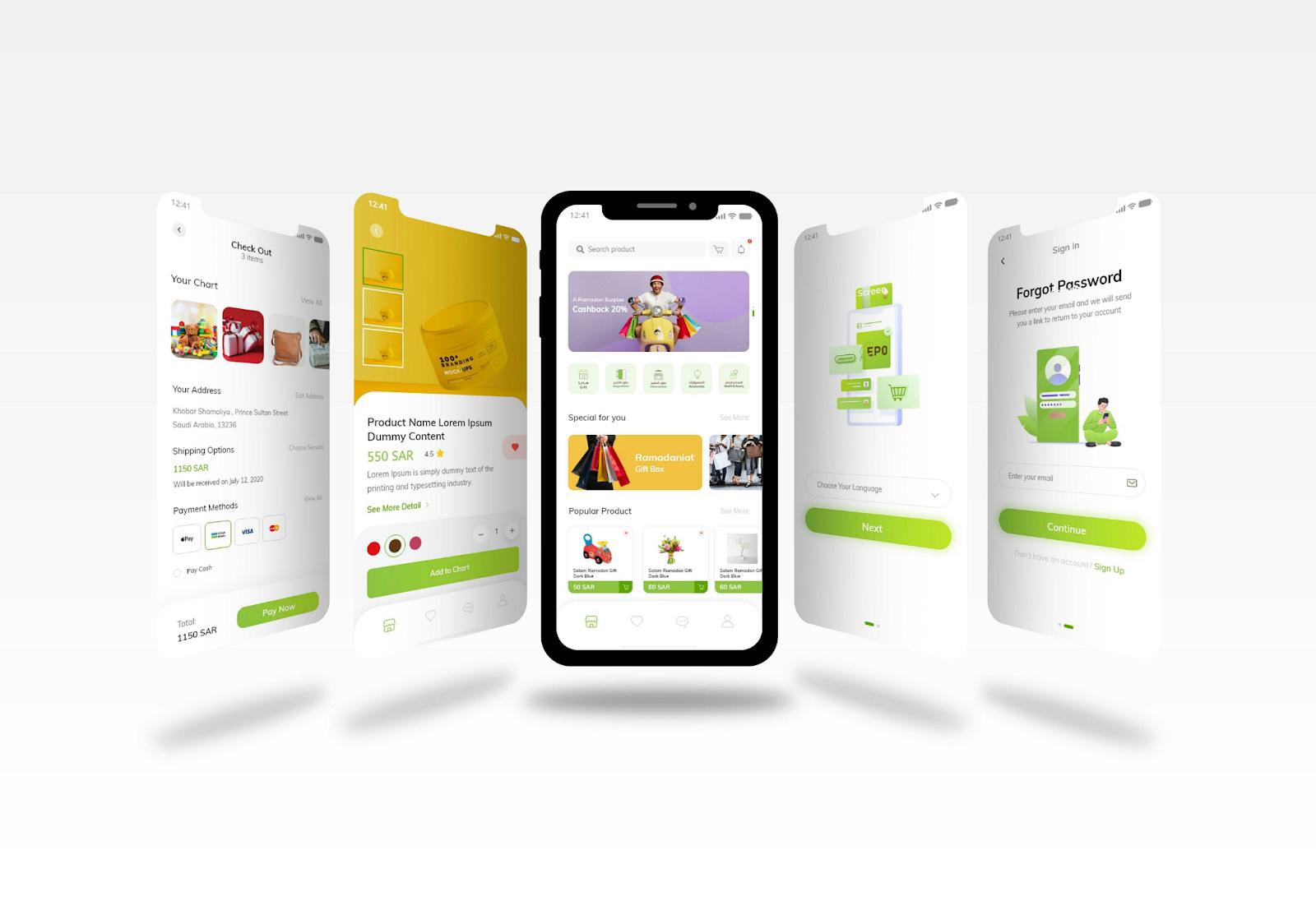 Online Shopping Application - YelloStack - Mobile Application Development Company in Saudi Arabia