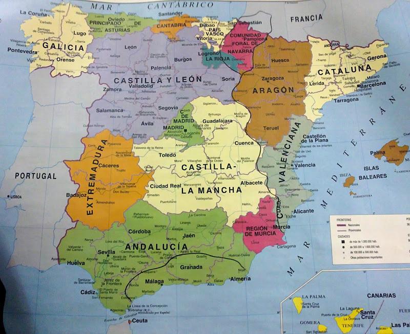 Karta Regionov Ispanii Terra Alicante Livejournal