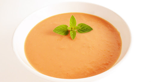 Silky, Roasted Tomato Soup (Dairy-free, low sodium, vegetarian).