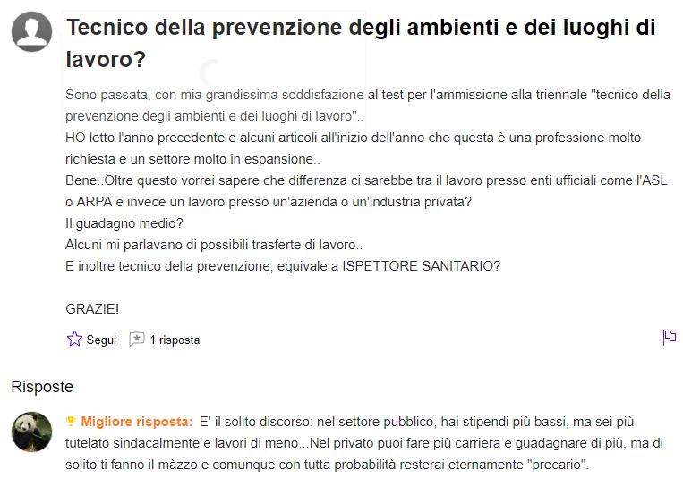 tecnico della prevenzione stipendio, HS FORMAZIONE