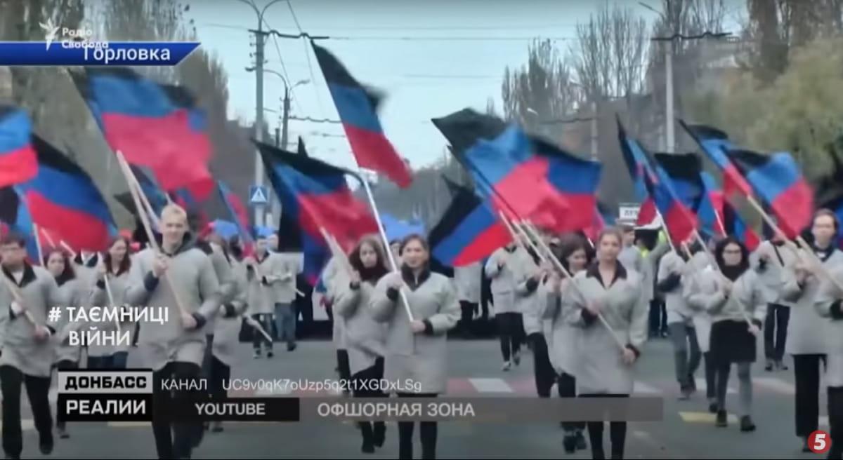Митинг оккупантов, Донбасс, 2014