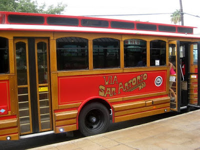 San Antonio Trolley - Photo Courtesy of Taste As You Go