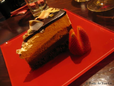 Chocolate Mousse Cake at Plum Pizzeria and Bar - Photo by Taste As You Go