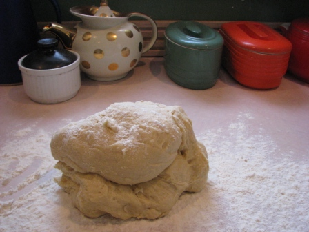Kneading Challah Dough - Photo Courtesy of Hillary Kwiatek