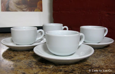 Set of Espresso Cups from The Brooklyn Kitchen in Brooklyn, NY - Photo by Taste As You Go