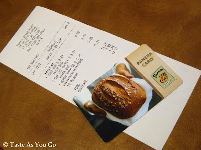 Panera Bread Gift Card and Receipt - Photo by Taste As You Go