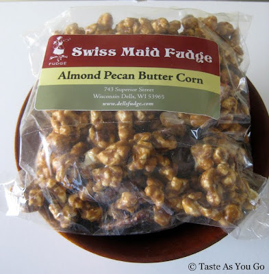 Almond Pecan Butter Corn from Swiss Maid Fudge in Wisconsin Dells, WI - Photo by Taste As You Go