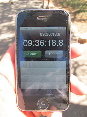 Official Time of the Grand Canyon Hike - Photo Courtesy of Rob Brooks-Bilson