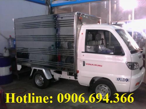 Bán xe tải Vinaxuki 550kg thùng kín, thùng bạt trả góp lãi suất thấp, giao xe ngay