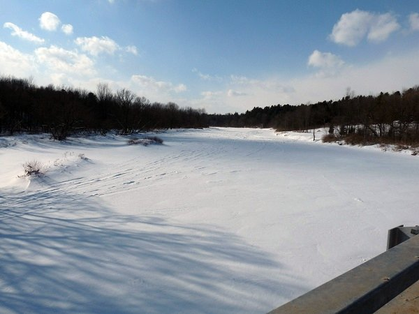 Grasse River frozen over at Louisville, NY