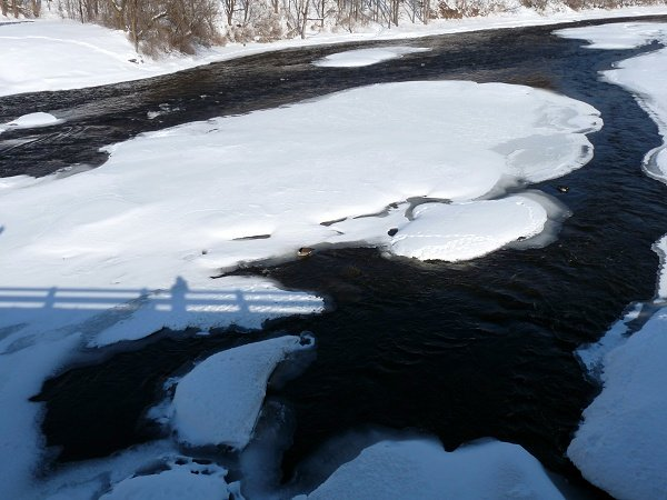 Grasse River at Louisville, NY - Feb 12, 2011