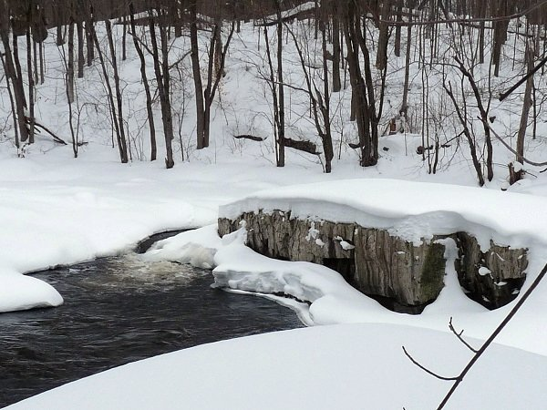 Raquette River in Stone Valley - winter