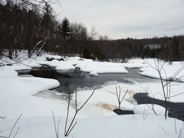 Stone Valley in winter - Raquette River