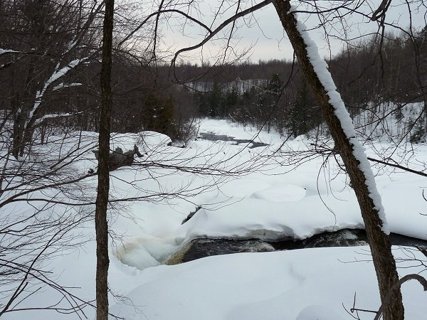 frozen waterfalls in Stone Valley