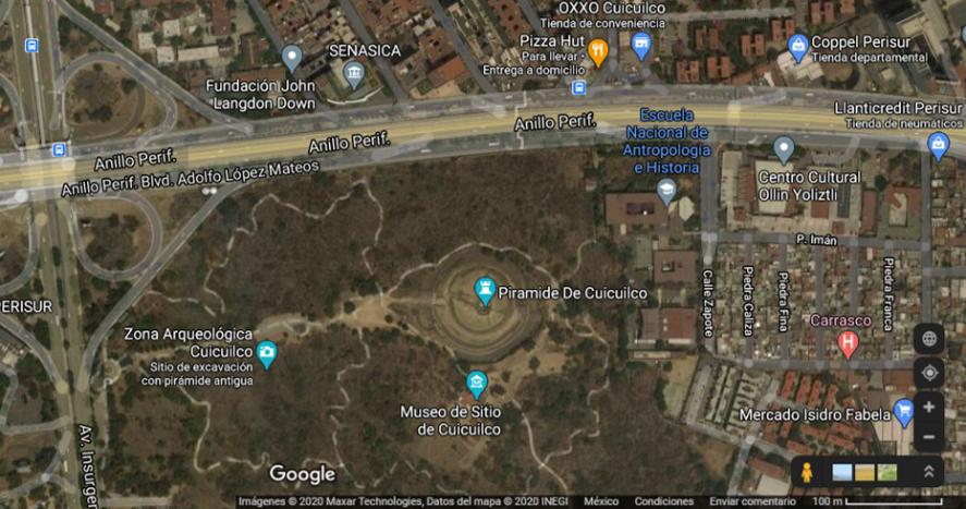 Mapa de Google Maps con la ubicación de la ENAH