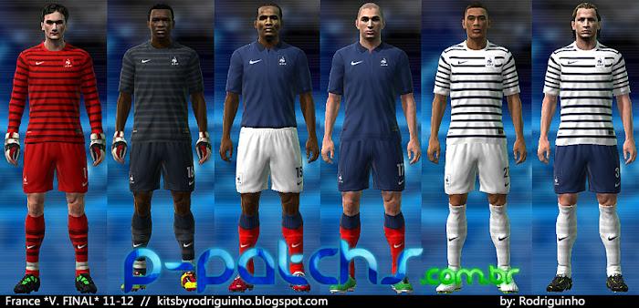 Seleção Francesa Kitset 11-12 download P-Patchs