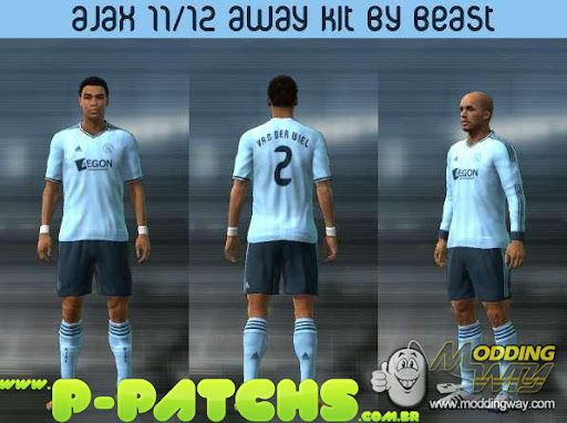 Ajax 11-12 Away Kit para PES 2011 PES 2011 download P-Patchs