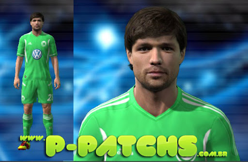 Wolfsburg 11-12 Home Kit para PES 2011 PES 2011 download P-Patchs