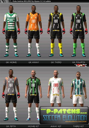 América MG Kitset 11-12 para PES 2011 PES 2011 download P-Patchs