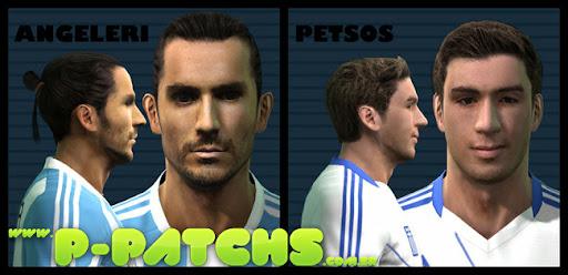 Angeleri e Petsos Faces para PES 2011 PES 2011 download P-Patchs