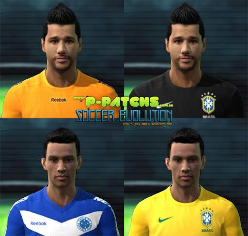 Cruzeiro - Seleção Brasileira Facepack para PES 2011 PES 2011 download P-Patchs