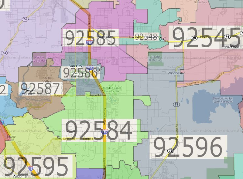 Zip Code Map Riverside Ca | Zip Code MAP
