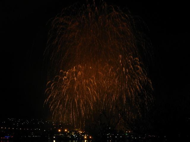 Феерверк на 9 мая 2011 в Севастополе. Вид с Радиогорки.
