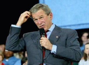 Image result for george w bush confused