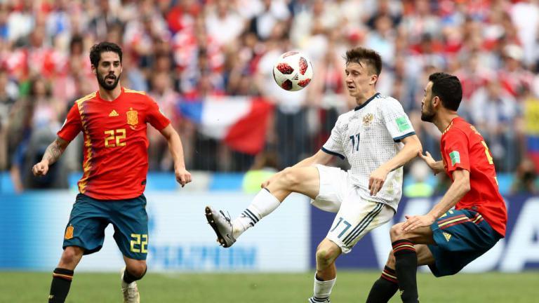 C:\Users\Carla\Desktop\Copa do Mundo 2018 - RUSSIA\Espnh\Espanha x Rússia\Isco foi um dos melhores em campo Foto Getty Images.jpg