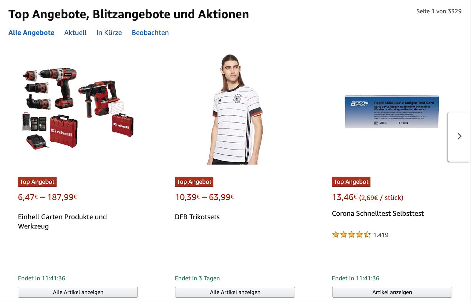 Amazon Deal Widget nutzen