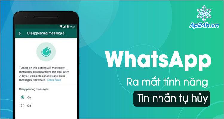 Tin nhan tu huy tren WhatsApp phat hanh trong cap nhat moi