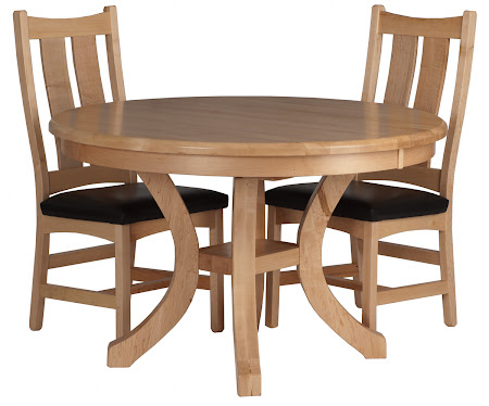 "44"" Diameter Montrose Round Table with Custom Runic Chairs in Natural Maple"