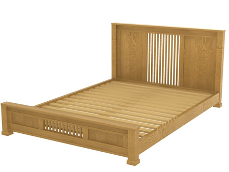 Hillside Platform Bed in Cinnamon Oak