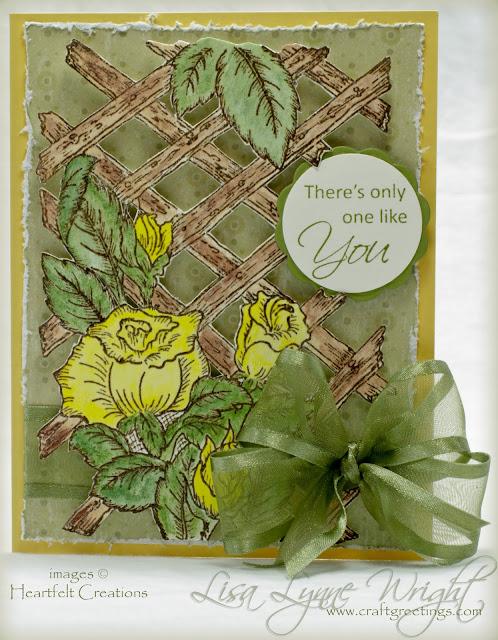 Yellow Rose Lattice