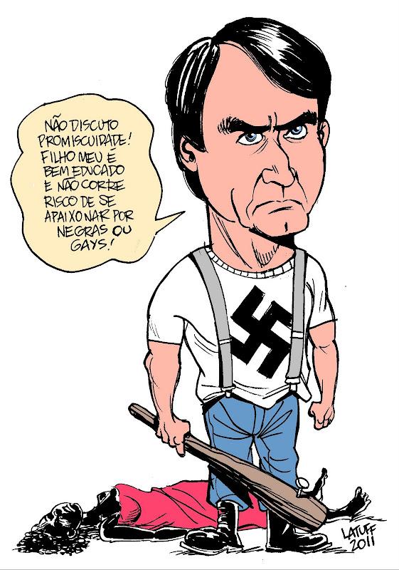 Resultado de imagen para bolsonaro caricatura
