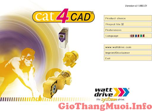 cad4cat2 Phần Mềm Tính Chọn Động Cơ Hộp Số Cat4CAD