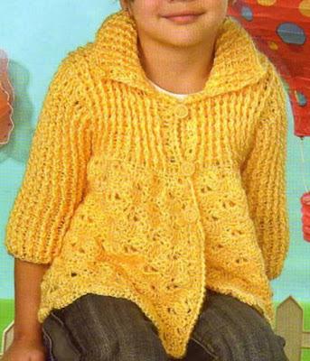 Chaleco para ni a de 3 a os con manga 3 4 tejido a crochet chaleco