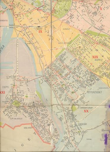 budapest térkép pesterzsébet PESTERZSÉBETI ÉRDEKES: Pesterzsébet 1958 térkép és BKV (2.bef.r.) budapest térkép pesterzsébet