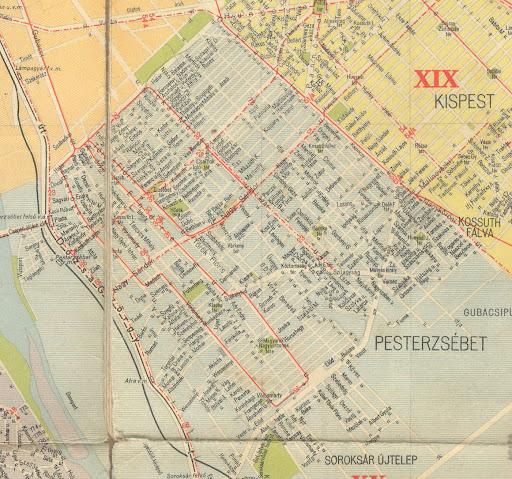budapest térkép kispest PESTERZSÉBETI ÉRDEKES: Pesterzsébet 1958 térkép és BKV (2.bef.r.) budapest térkép kispest