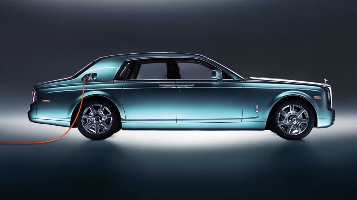 The first electric Rolls-Royce, the 2011 Phantom VII