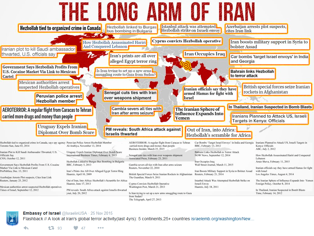 Donald Trump Says Iran Is Responsible For Terrorist Attacks In - Map of countries us is bombing
