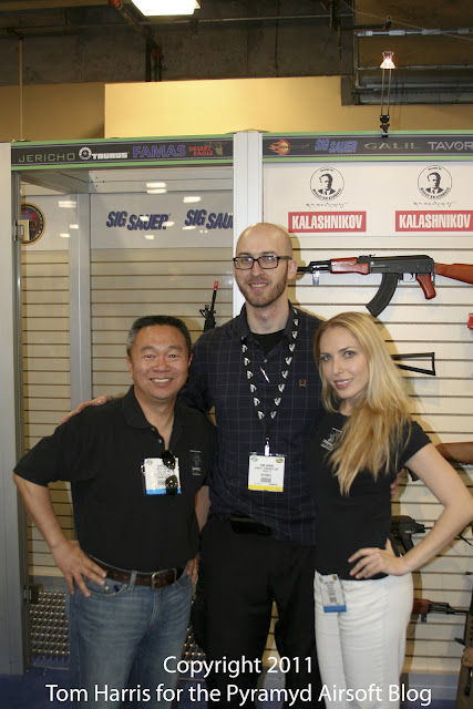 Airsoft Guns, John Lu, Operation Lion Claws, Operation Irene, Operation Red Storm, Best of USA Marketing, Mad Max Mullen, Col. Danny McKnight, Blackhawk Down, Airsoft Shot Show 2011 News, 2011 Shot Show, Cybergun Booth, Inokatsu, G&G, King Arms, Tokyo Marui,King Arms Colt M4 Gas Blowback Rifle, G&G FN F2000, Inokatsu Desert Eagle, Inokatsu M1911 Steel CO2 GBB, AK47, Kalashnikov, Thompson Submachine Gun,Airsoft Automatic Electric Gun, Airsoft SAW, Airsoft light machine gun, Airsoft support weapon, Airsoft Heavy Machine Gun, Gas Blowback M4 Rifle, Gas Blowback Pistol, CO2 Pistol, Airsoft AEG,M240B, AEG, VFC, GBB, LMG, Airsoft SMG, Airsoft Submachine Gun,Pyramyd Air, Pyramyd Airsoft Blog, Airsoft Obsessed, Airsoft Blog,