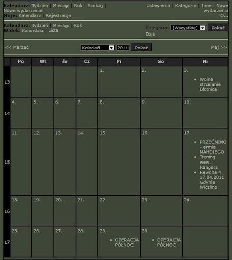 Kalendarz Dzia?a?