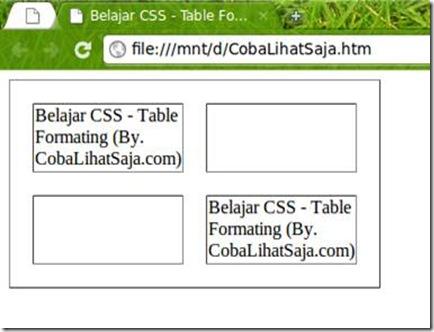 Belajar css bagian 4 table coba lihat saja for Hide tr in table