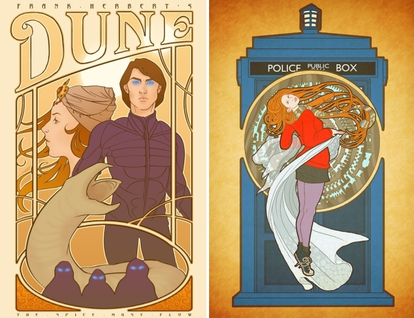 Duna e Amy Pond Art Nouveau