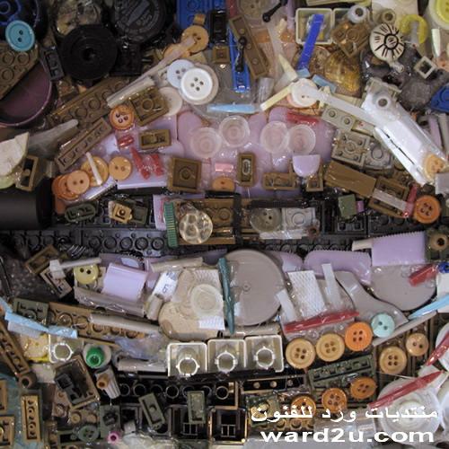 فن اعاده الاستخدام والتشكيل ببقايا البلاستيك