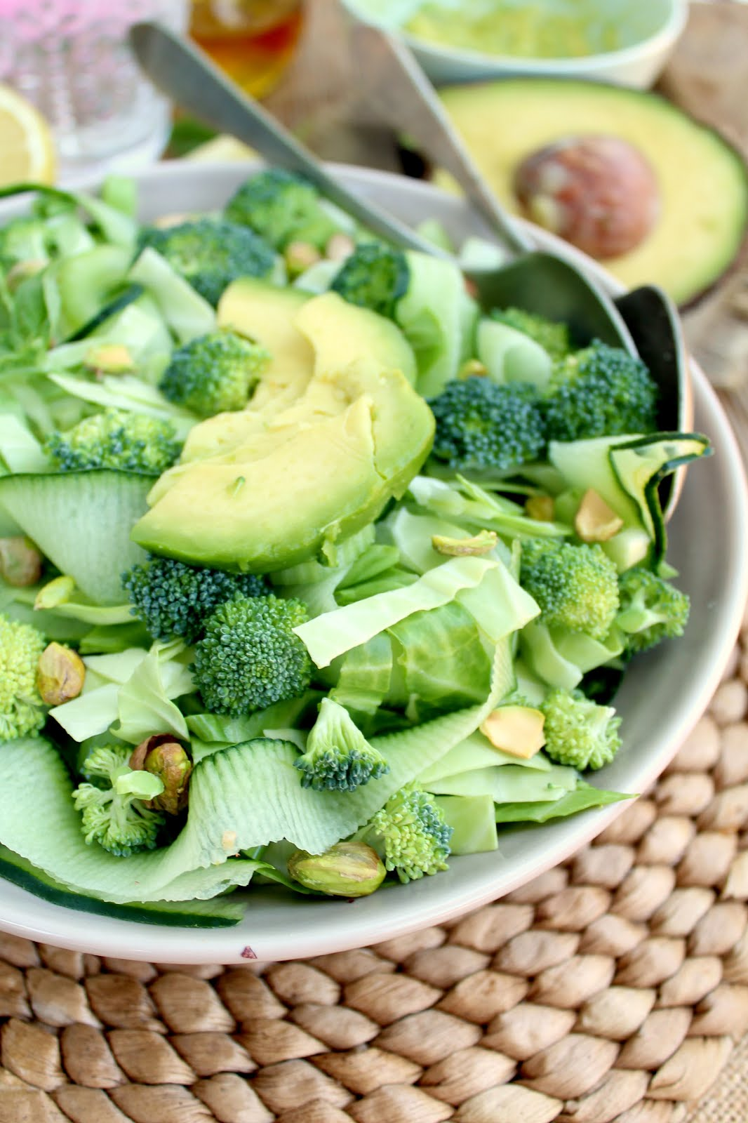 Green Monster Detox Salad: full of healthy stuff to help you de-bloat after too many indulgences!
