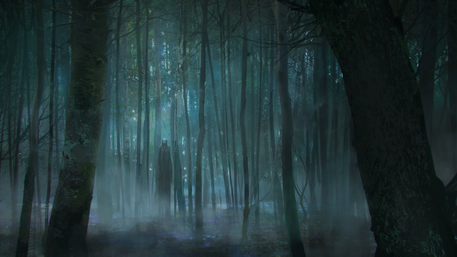 Image result for scary forest