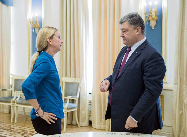 Зустріч президента України Петра Порошенка та Уляни Супрун