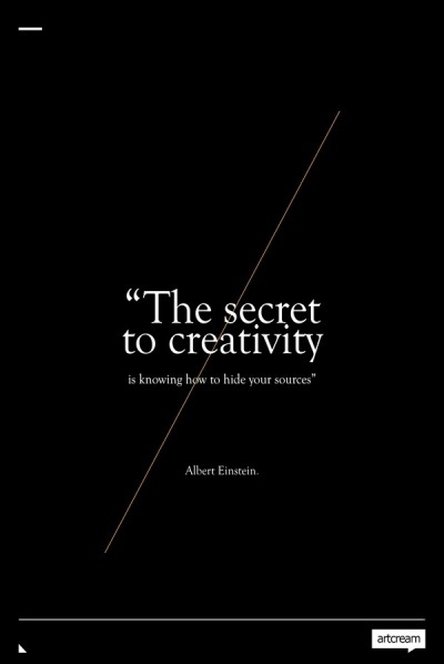 secret to creativity graphic quote einstein